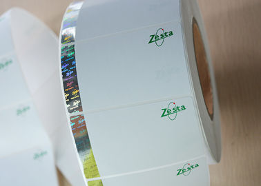 China Glossy Silver Hot Stamping Labels / Security Hologram Label Polyester Film Material supplier