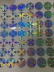 China Authentic Holographic Security Stickers Water Based Glue 25 Mircon Thickness supplier