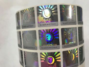 China Anti Counterfeit 3D Holographic Stickers , Hologram Seal Stickers With Scratch Off Layer supplier