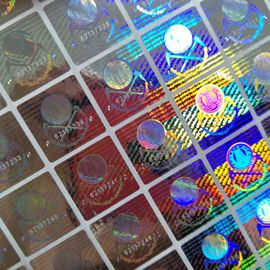 China Silver serial number on Holographic Sticker With lasering codes for hologram security seal supplier