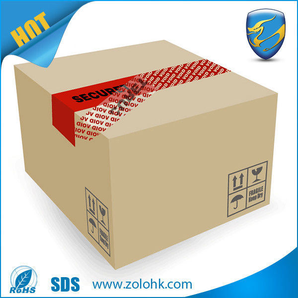 Red VOID Total Transfer Tamper Evident Security Tape Open Void For Box Sealing