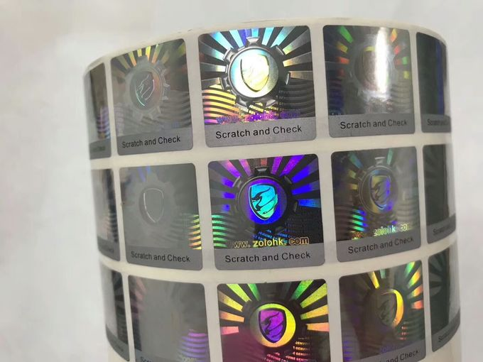 Anti Counterfeit 3D Holographic Stickers , Hologram Seal Stickers With Scratch Off Layer