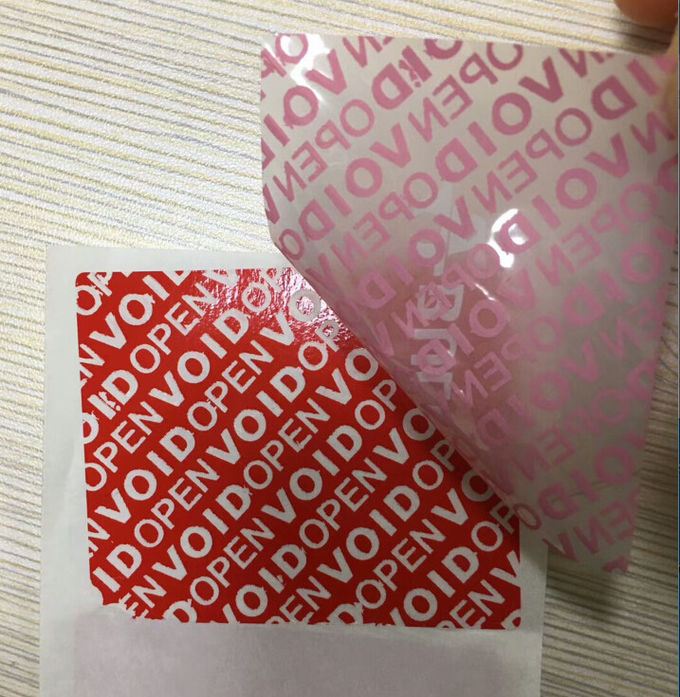 Custom Printing Matte Red Void Seal Stickers Self Adhesive Security Tamper Proof Sealing Label